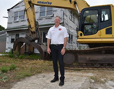 Councilman Foley infront of 179 Avenue B