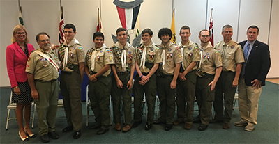 Eagle Scout group Photo