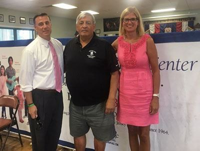 Assemblyman Palumbo; VFW Post 6249 Commander Joe Cognitore and Councilwoman Bonner