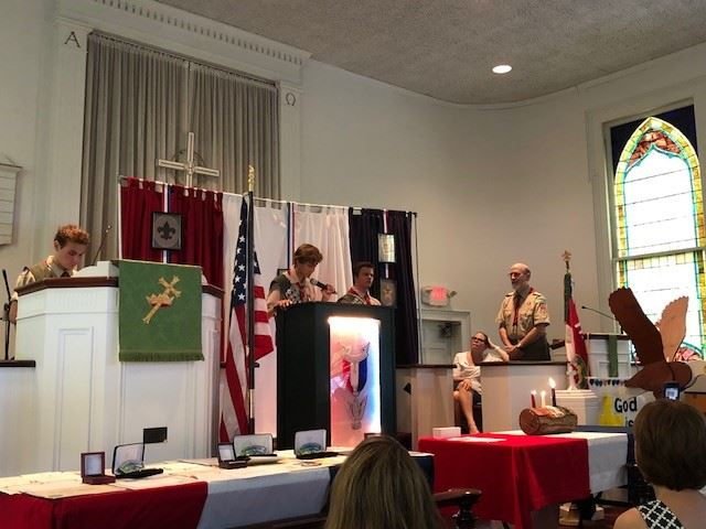 Eagle Scouts Court of Honor ceremony