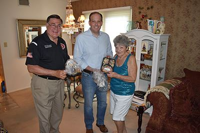 Supervisor Ed Romaine, Congressman Lee Zeldin and Leisure Knoll resident Sylvia Klimm