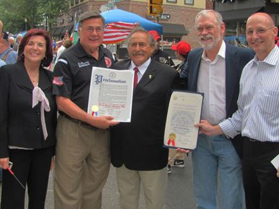 Antoinette Giordano; Supervisor Ed Romaine; Lou Giordano; Thomas Keegan, Chairman of the Greater Pat