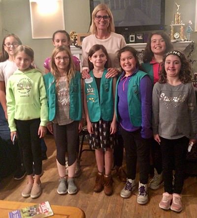 Councilwoman Bonner with Girl Scout Unit 604