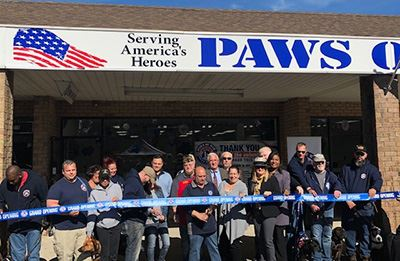 Paws of War Group ribbon cutting