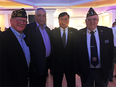 Group photo at veterans luncheon