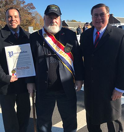 Councilman Panico Grand Marshal Paul Haines and Supervisor Romaine