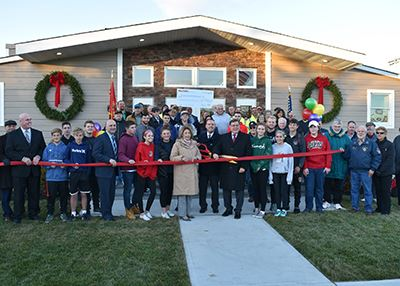 Moriches Bay Recreation Center ribbon cutting group photo