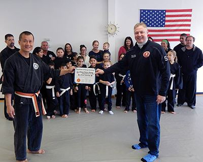 Integrated Martial Arts Center certificate presentation