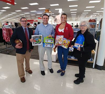 Frank Petrignani; Councilman LaValle; Target store manager Jaclyn Brehm and INTERFACE Coordinator Jo