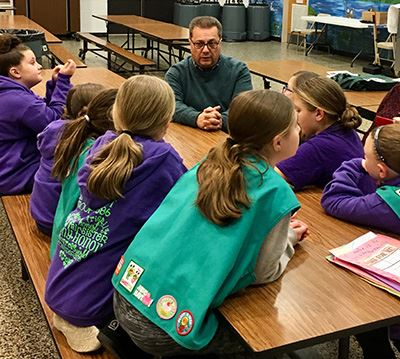 Loguercio with Girl Scout Troop 1386