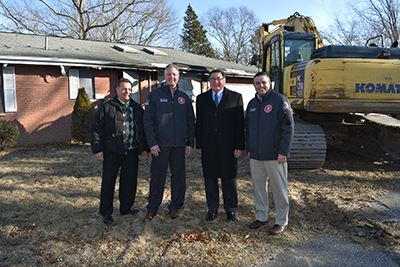 185 Southaven Avenue Medford 250th demolition group photo