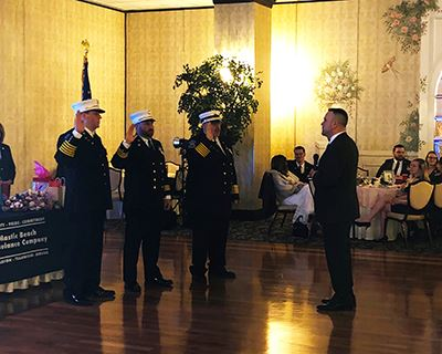 Councilman Panico swearing in Mastic Beach Ambulance Chiefs