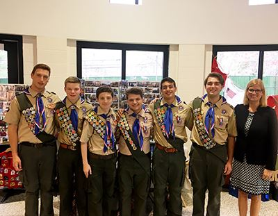 Eagle Scouts Troop 1776 group photo