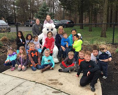 Ridge Easter Egg Hunt group photo