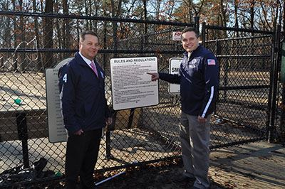 Councilmen LaValle and Loguercio at park