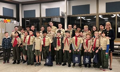 Boy Scout Troop 244 group photo