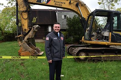 Councilman LaValle at 38 Park Hill Drive Selden Demolition