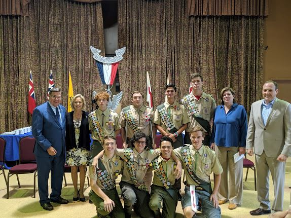 Troop 161 BSA Court of Honor group photo