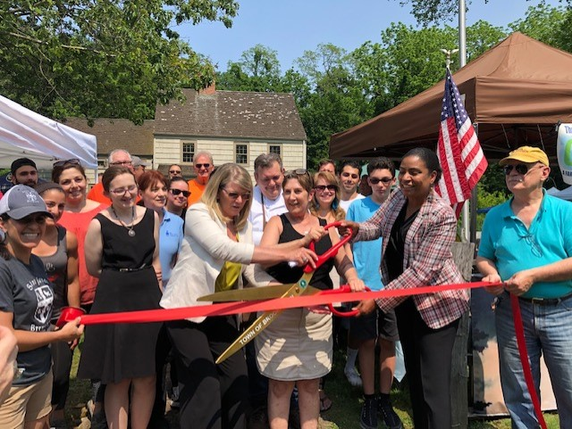 Opening of Three Village Artisan and Farmers Market Season ribbon cutting