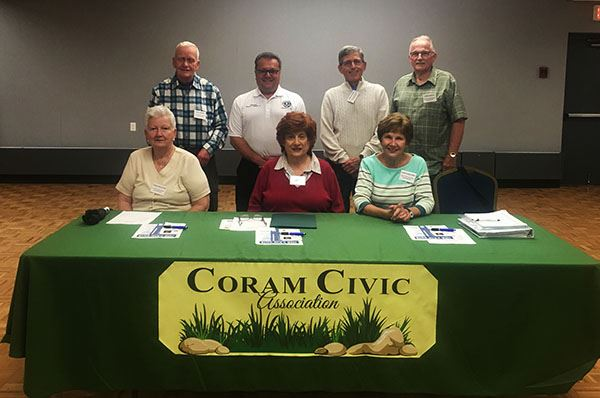 Coram Civic Association meeting group photo
