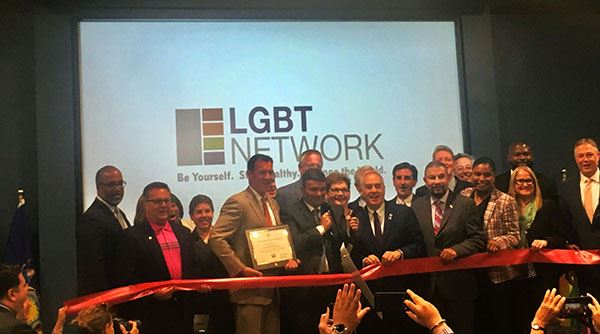LGBT Network grand opening group photo