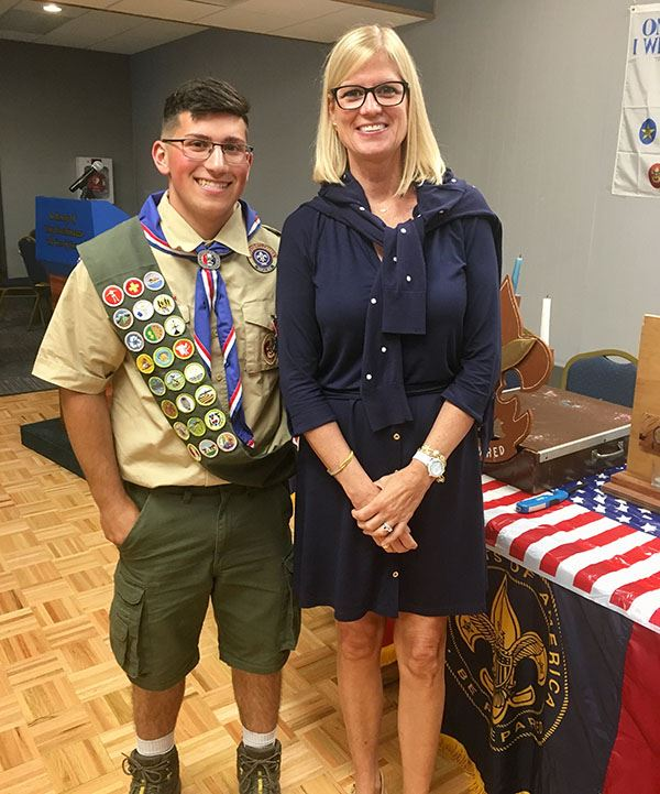 Councilwoman Bonner and Eagle Scout