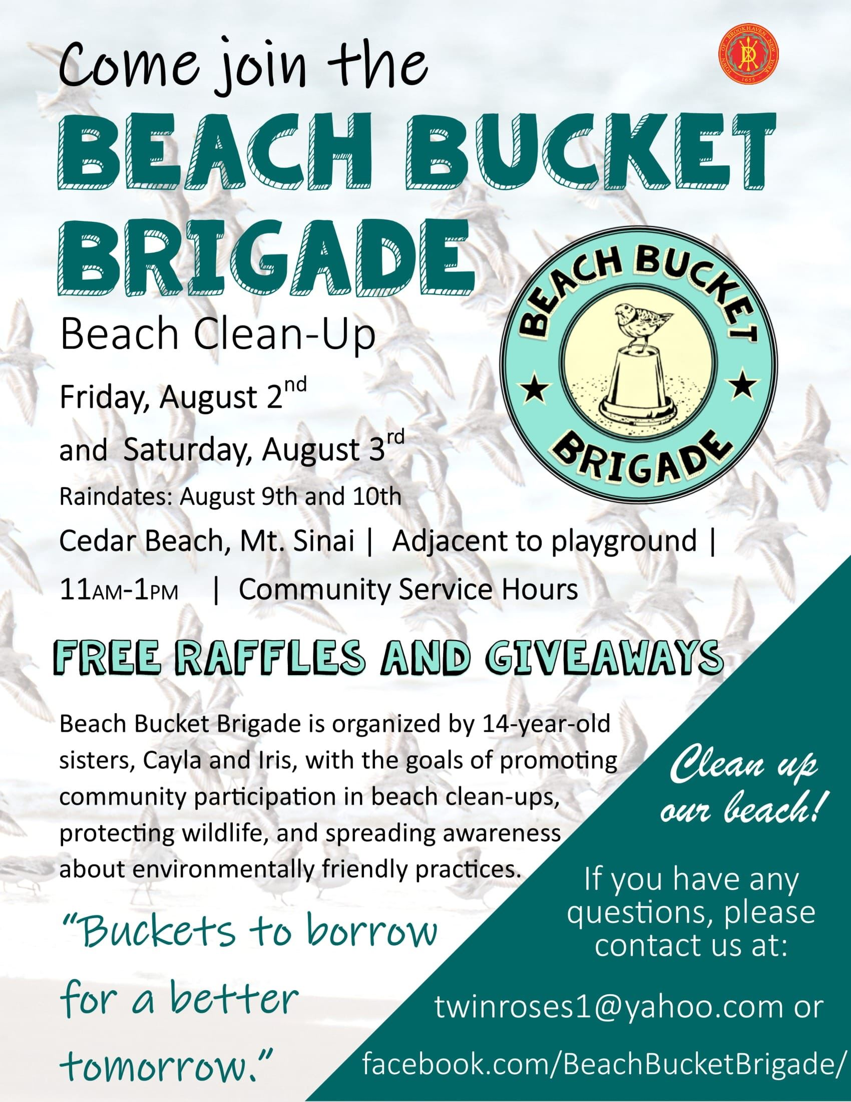 Beach Bucket Brigade Flyer