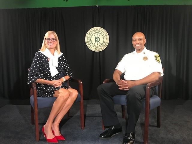 National Night Out taping with Jane Bonner and Sheriff Toulon