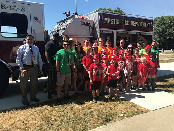 Regen Camp visits Mastic Fire Department