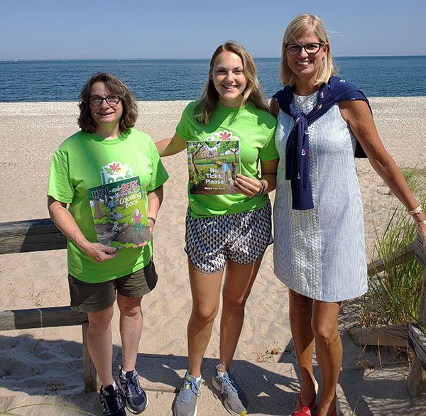Councilwoman Bonner are LEAF founder Dr. Nancy Fox (left) and Lyme Disease advocate Cassidy Colbert