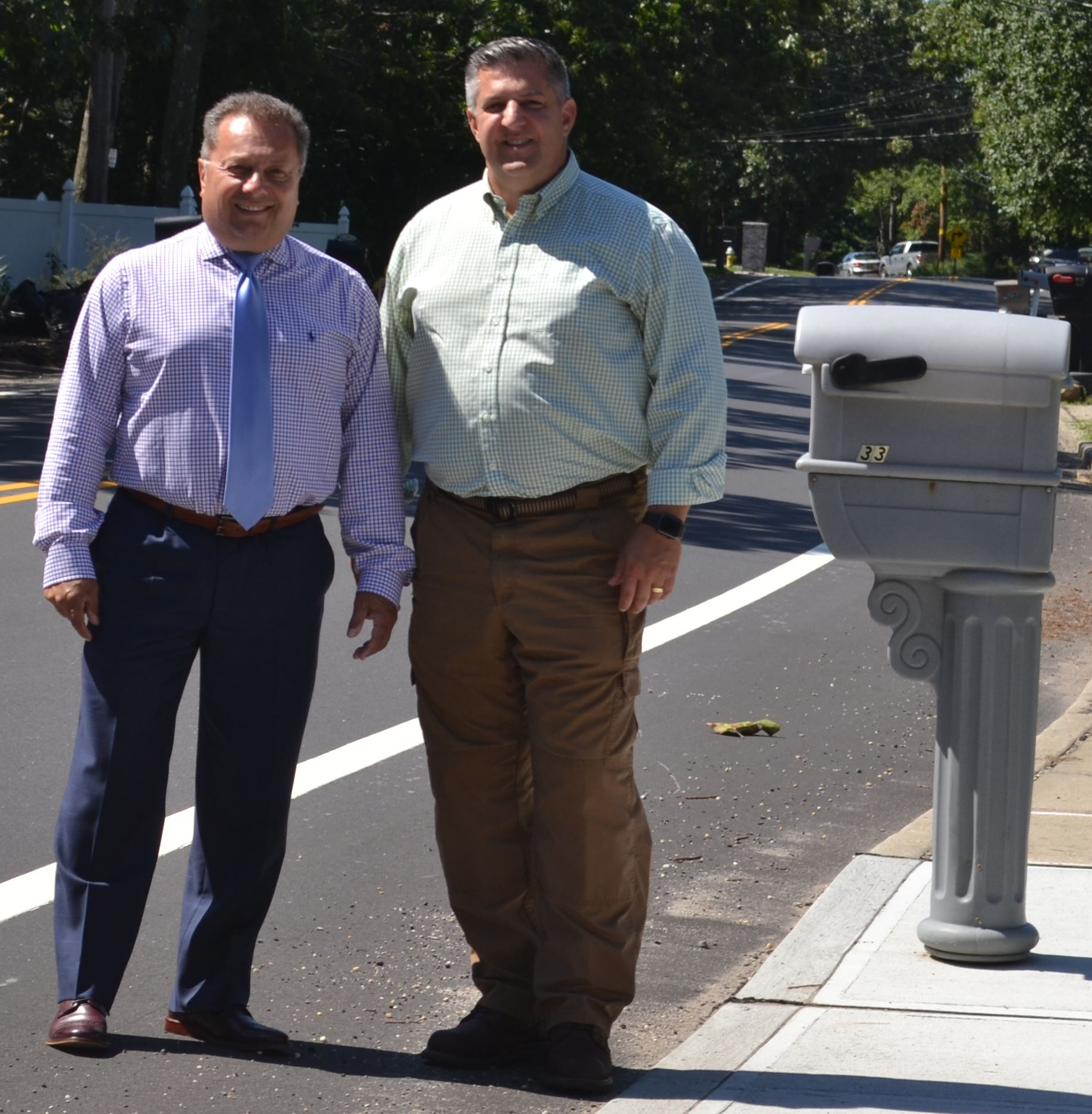 – Brookhaven Town Highway Superintendent Daniel P. Losquadro and Councilman Michael Loguercio standi