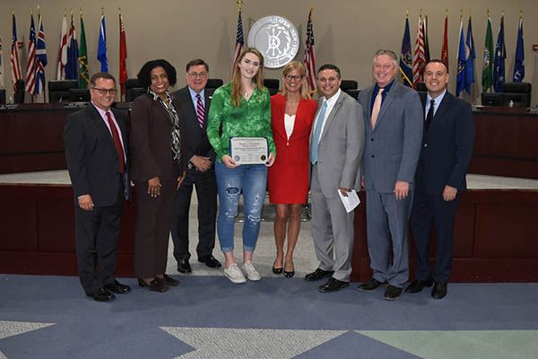 Basketball student recieves award from council