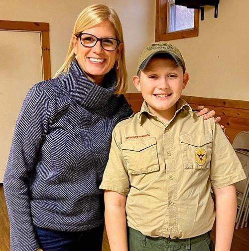 Councilwoman Bonner and Boy Scout Sean Berry
