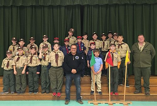 Councilman Loguercio and Boy Scouts from Troop 625