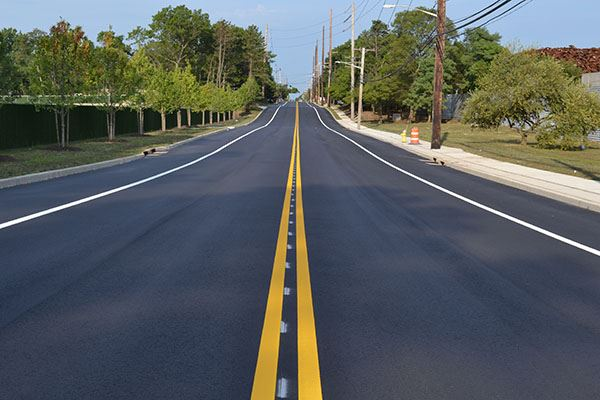Image of a freshly paved road
