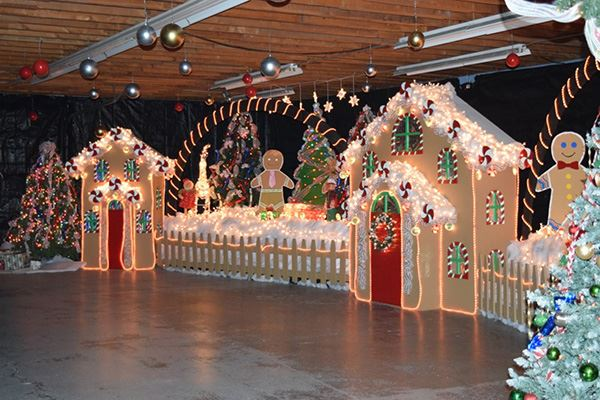 Image of a winter wonderland set up