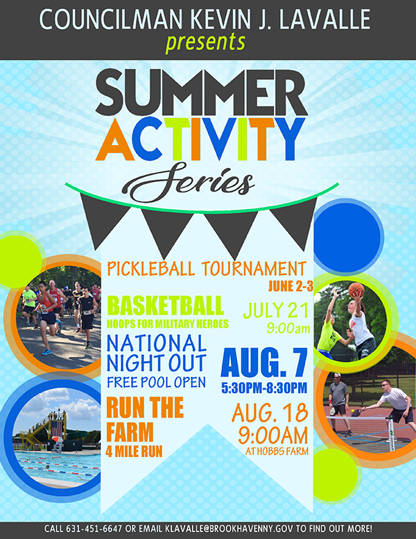 Summer Activity Series events listing