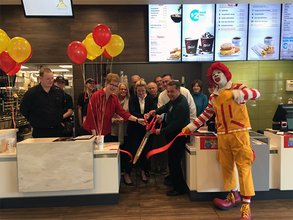 Opening of McDonalds restaurant