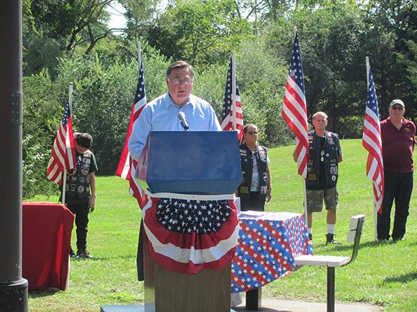 Supervisor Romaine Honors Gold Star Families at Memorial Dedication in Middle Island