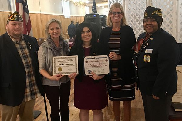 Councilwoman Bonner Honors VFW Council Voice of Democracy Award Winner