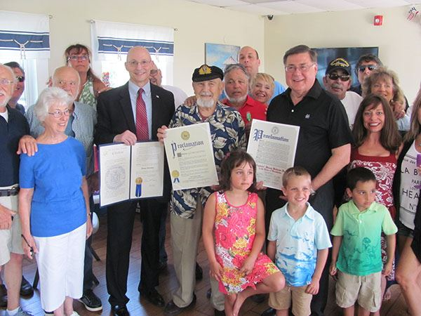 Supervisor Romaine Presents Proclamation to Benny Balsamo Resident of the Patchogue Shores Community