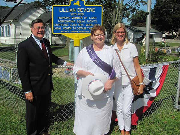Town Officials Celebrate 100th Anniversary of Voting Rights for Women at Suffragist Parade and Rally
