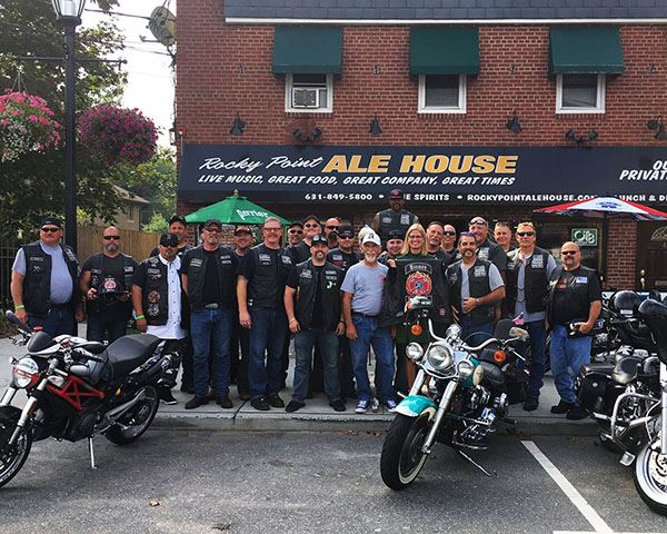 Councilwoman Bonner Lends Her Support to the Axemen MC NY-3 at the Rocky Point Ale House Bike Social