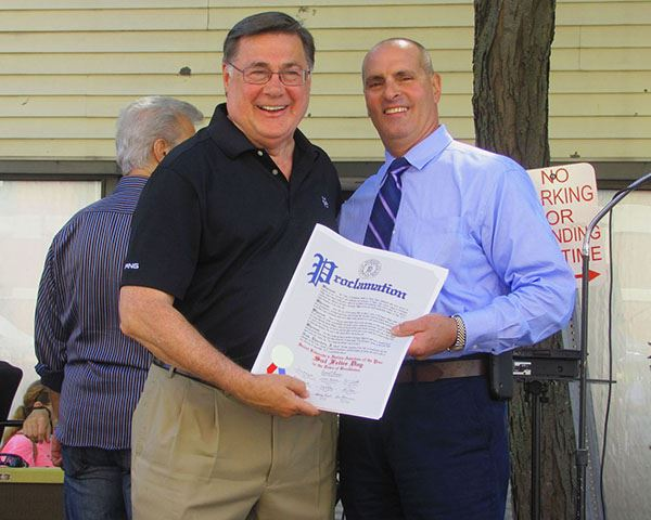 Supervisor Romaine Honors Village Trustee Sal Felice as Italian-American of the Year at St. Liberata
