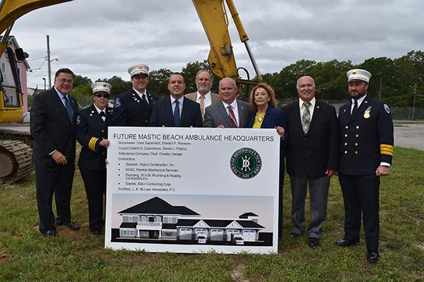Brookhaven Town Breaks Ground on New Mastic Beach Ambulance Company Headquarters