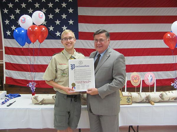 Supervisor Romaine Honors Eagle Scout from Troop 29 in East Moriches