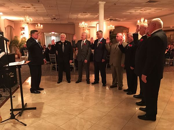 Supervisor Romaine and Councilman Panico Install Officers of Mastic Beach Yacht Club