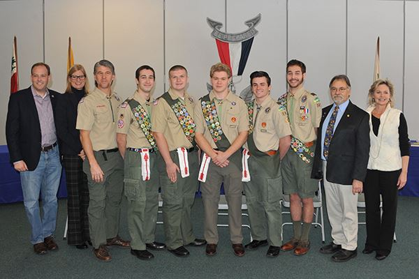 Councilwoman Bonner Honors New Eagle Scouts from Troop 161 of Shoreham