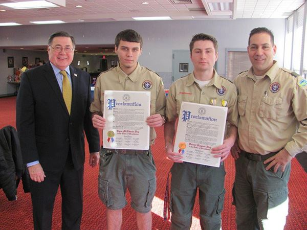 Supervisor Romaine Honors New Eagle Scouts from Troop 356 in Centereach