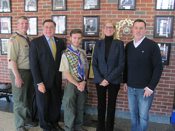 Supervisor Romaine and Councilwoman Bonner Honor New Eagle Scout from Troop 1776 of Mount Sinai